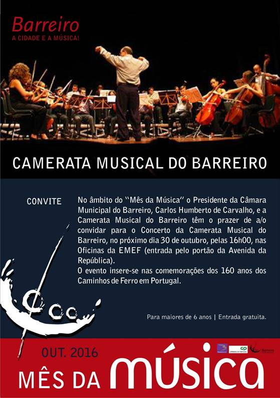 Oficinas do Barreiro acolhem concerto musical