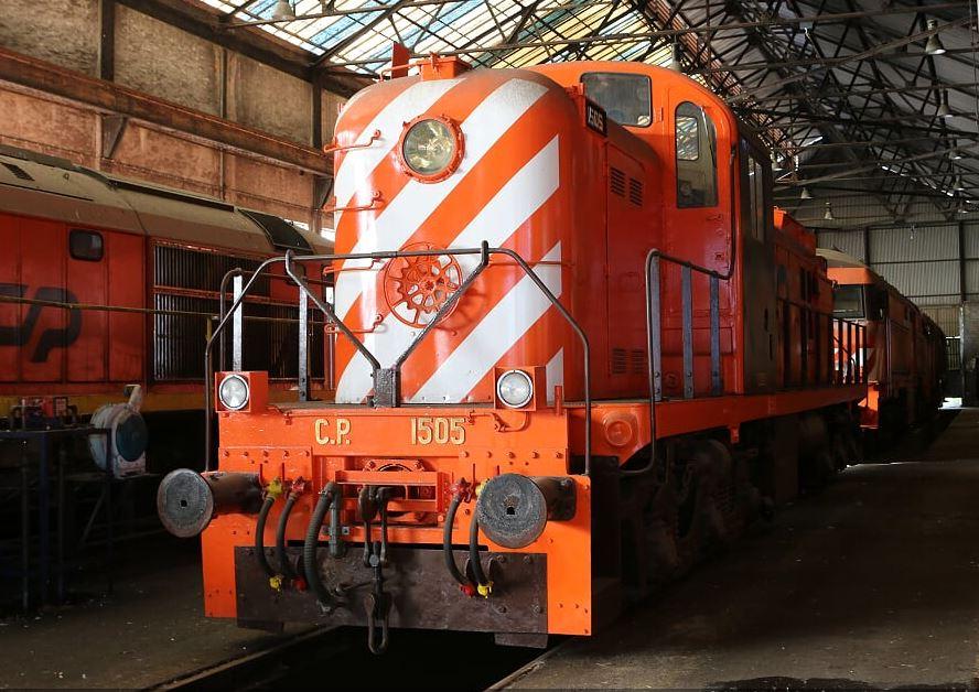 Locomotiva 1505 será exposta na Guarda